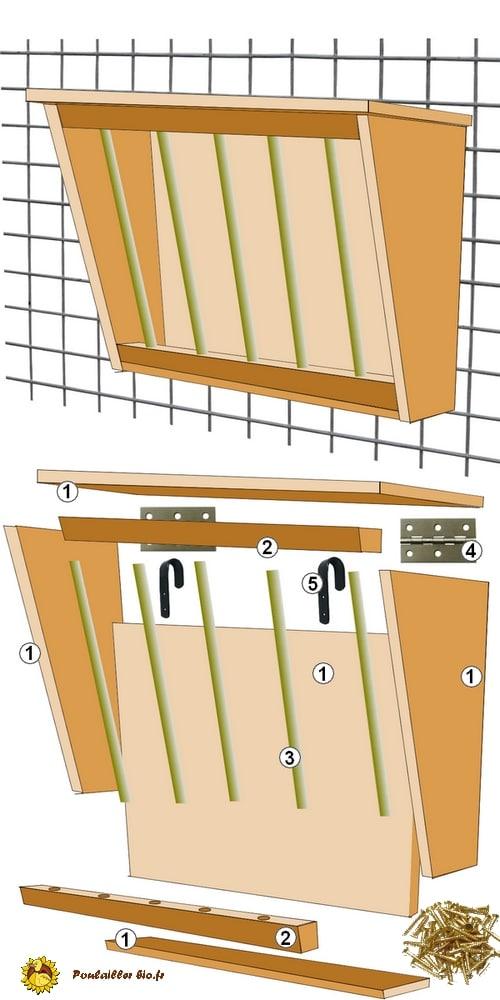 mangoire ratelier pour lapins - plan de montage