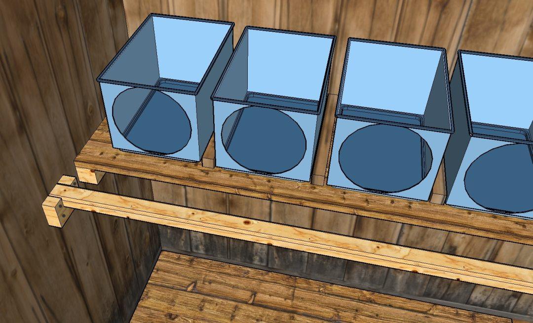 pondoir-nichoir de poules fait avec des boites de rangement