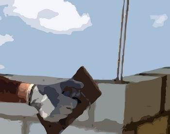 chainage des angles des murs du pigeonnier