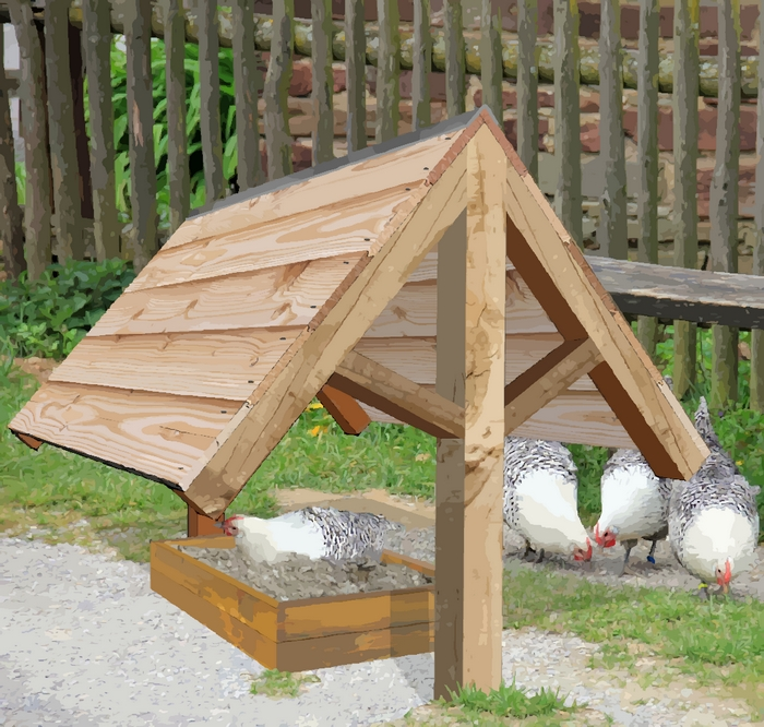 bac pour bain de poussière pour poules
