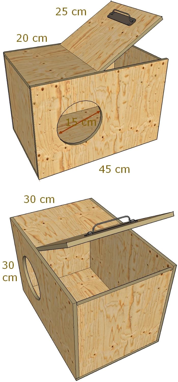 Plan d'une boite à nid pour lapine