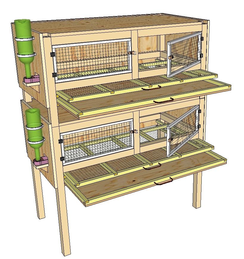 modèle de cage pour cailles superposées
