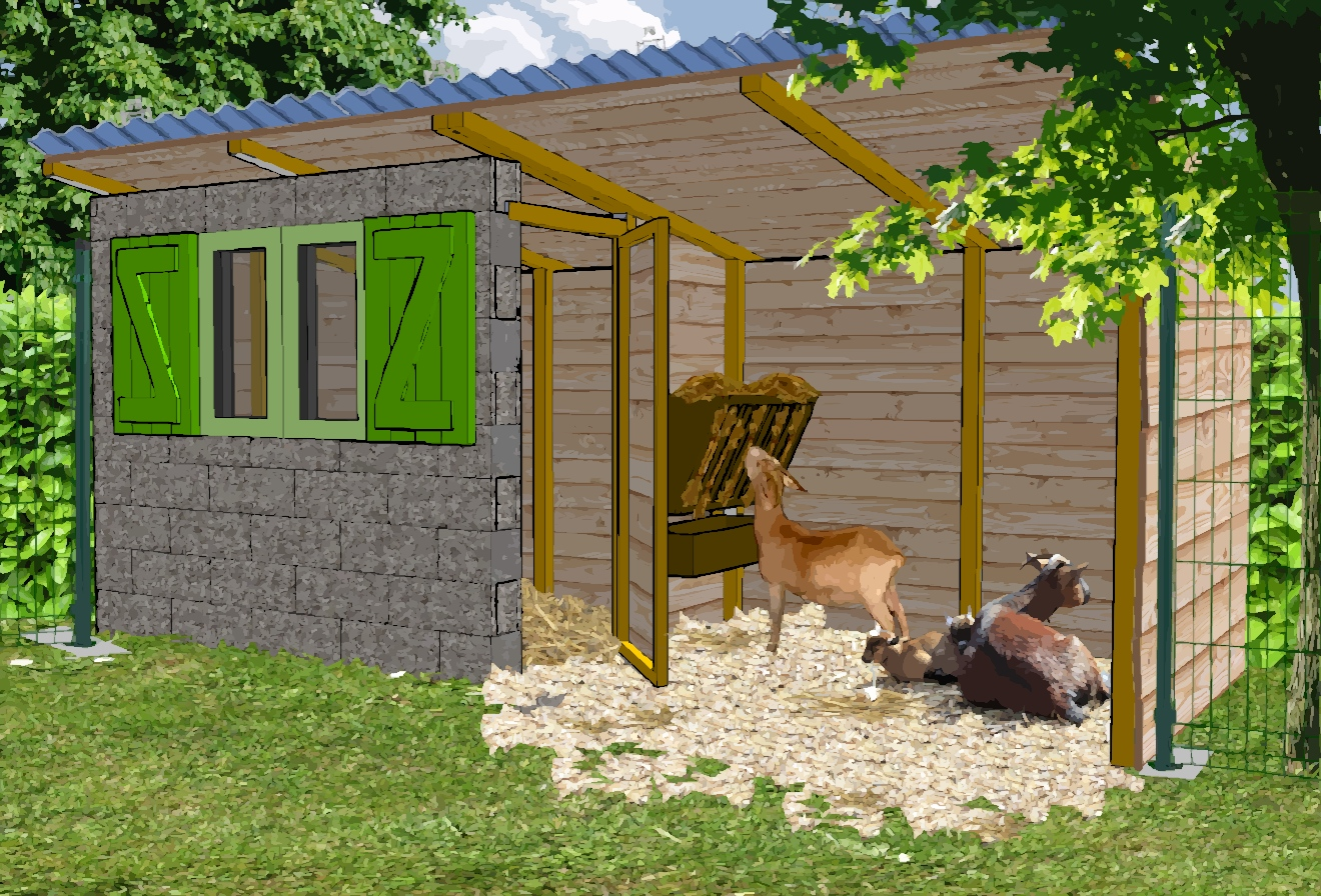 Cabane en palette pour chevre for As tu un animal a la maison