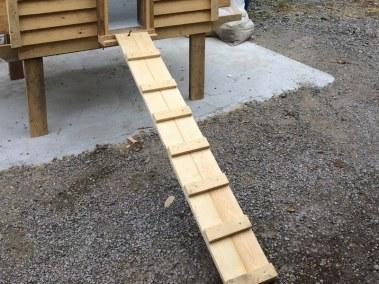 benoit - échelle de poulailler pour poules autoconstruite