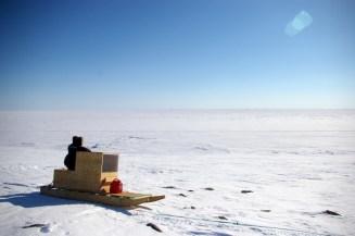 Frozen Dease Straight near Cambridge Bay