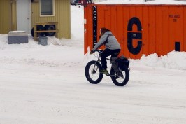 Obviously need the big fat tires to get about on the snow and ice