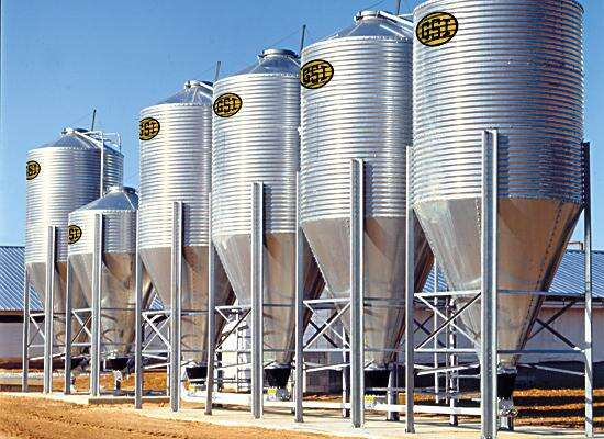 Industrial Scale Poultry Feed Storage
