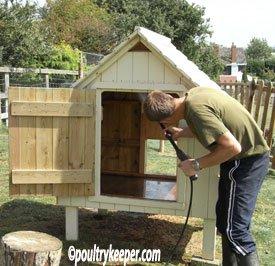 Washing Chicken House