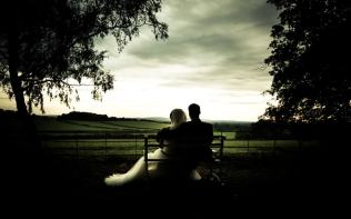 happy-couple-sunset-view-fields-poundon-house