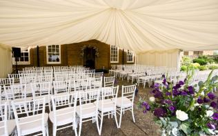 ceremony-terrace-marquee-poundon-house