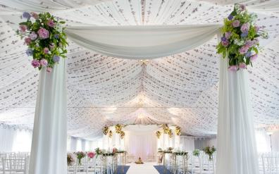 Mandap in the Reception Marquee