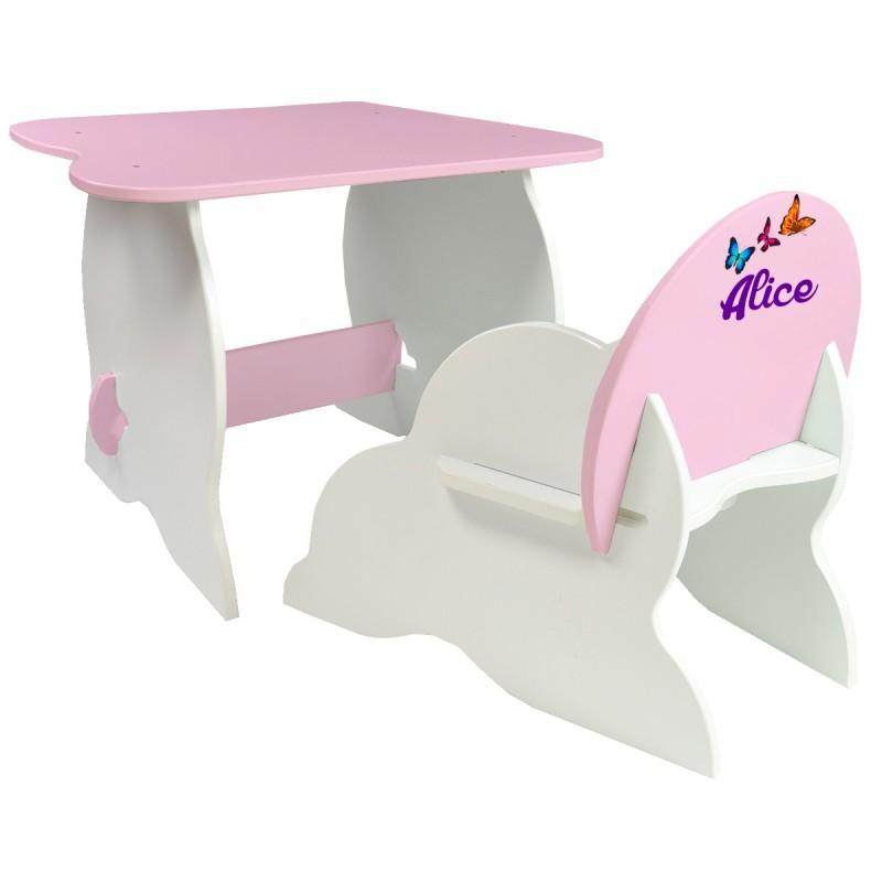 Table Et Chaise Enfant Personnalise Roses