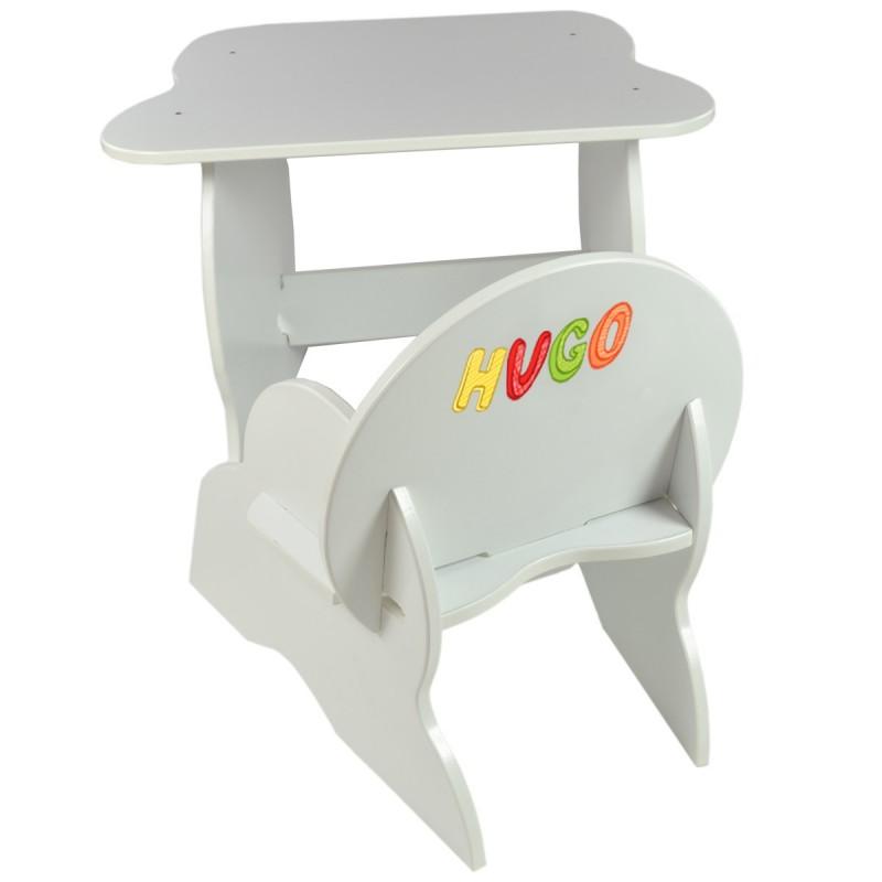 ensemble table et chaise personnalisee blanc