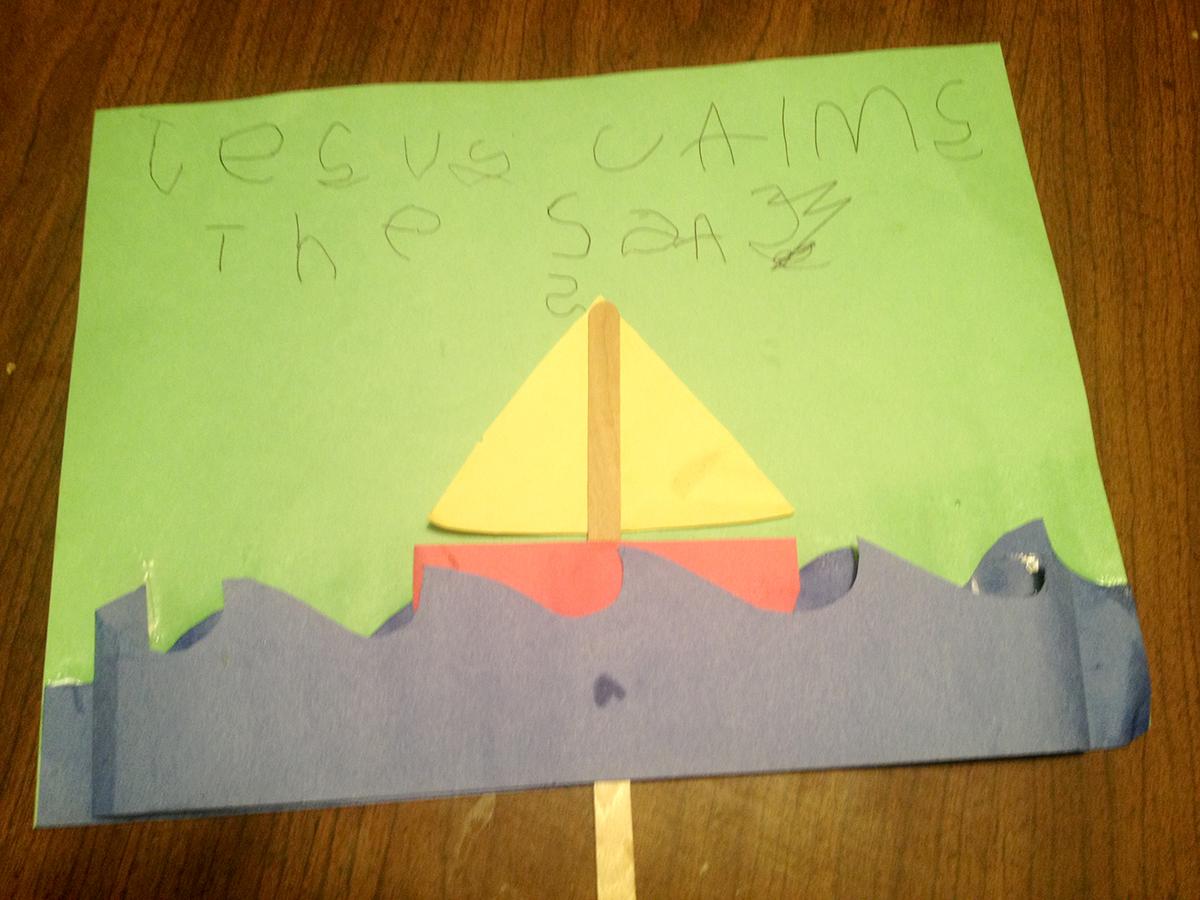 Jesus Calms The Sea Kids Craft