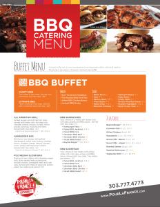 BBQ Catering Menu