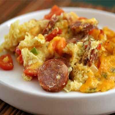 Andouille & Peppers Breakfast Scramble