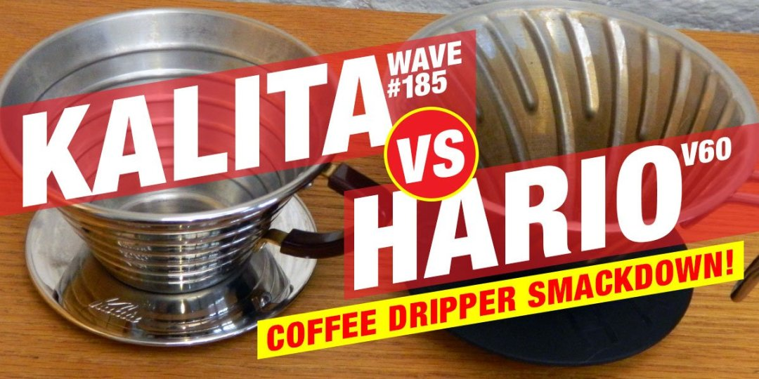 Kalita 185 vs Hario V60 pour over coffee drippers