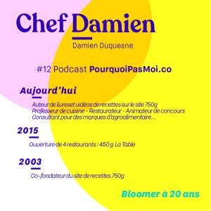 Chef Damien - parcours