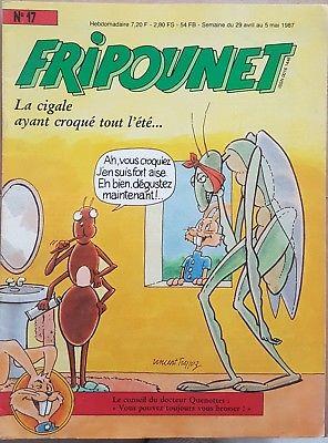 Fripounet 1987, N°17 La cigale ayant croqué tout l'été..