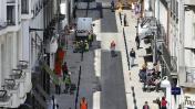 En éliminant le stationnement de surface, plus de place est offert aux piétons et aux cyclistes (à Nantes, France). Crédit: ouest-france.f