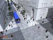 La proposition de rue Sainte-Catherine magistrale est bien illustrée par la proposition d'aménagement réalisée par le cabinet d'architectes Rayside Labossière.