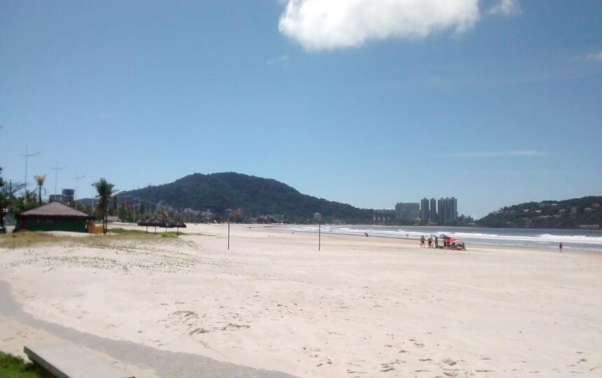 Praia da Enseada no Guarujá