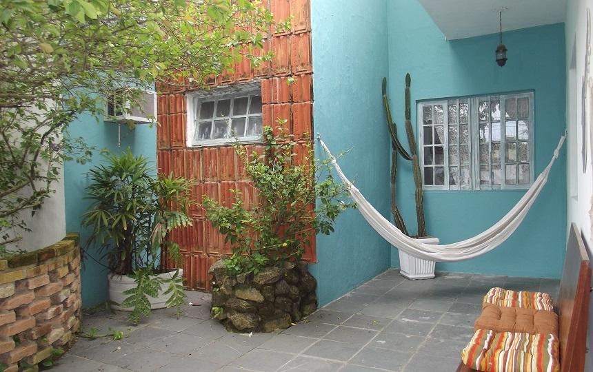 Rede no Jardim da Oca Poranga Pousada em Guaruja