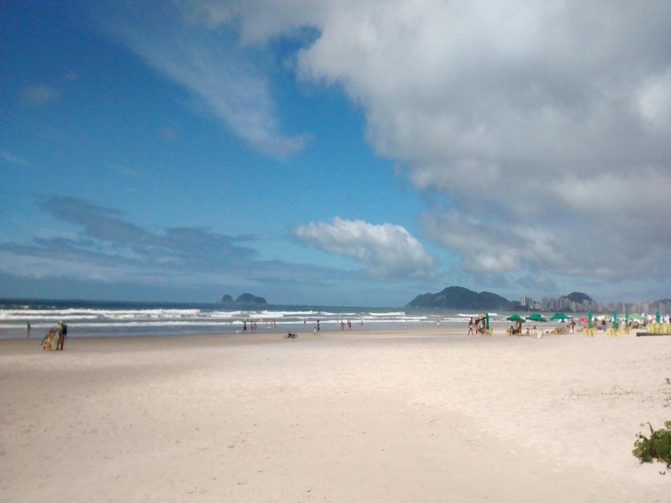Areia da Praia da Enseada em Guarujá SP