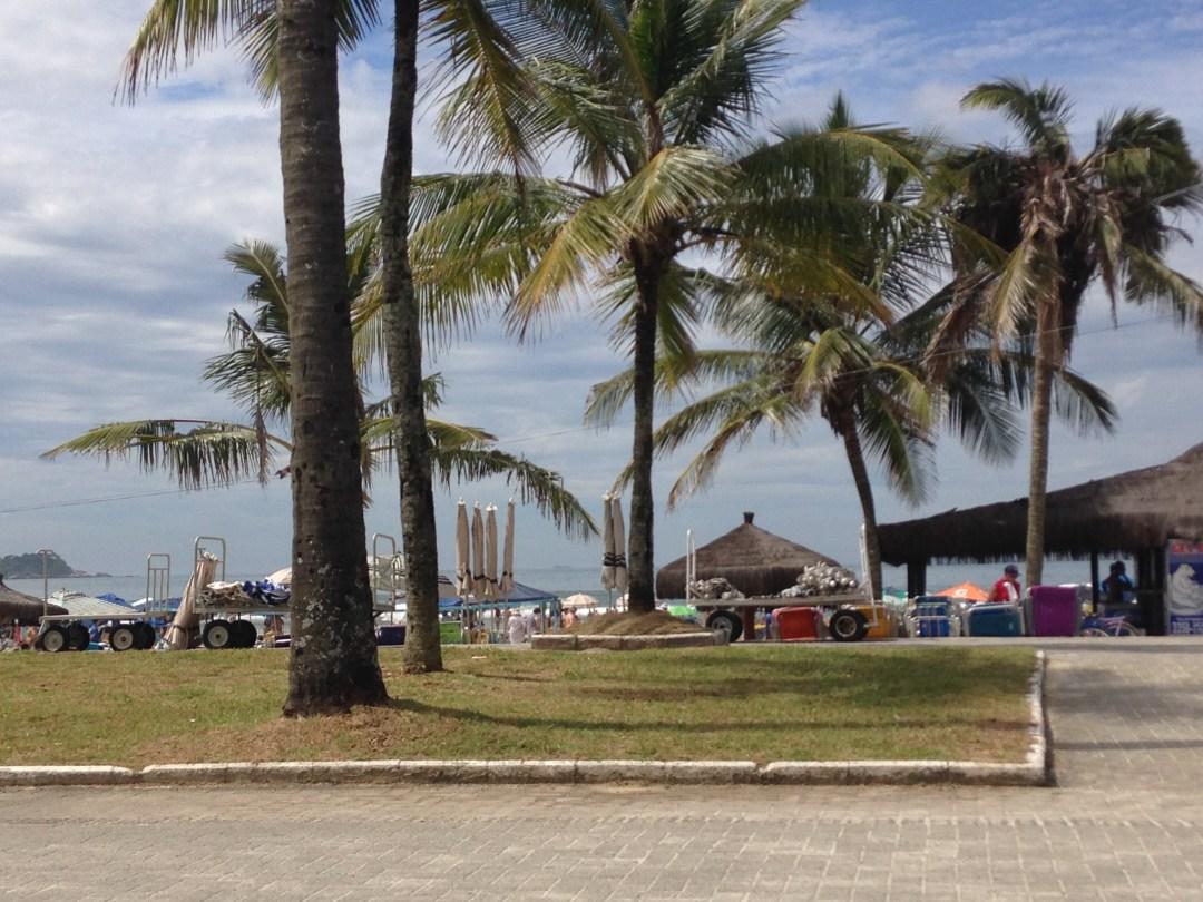 Vista da Orla da Praia da Enseada - Guarujá - São Paulo