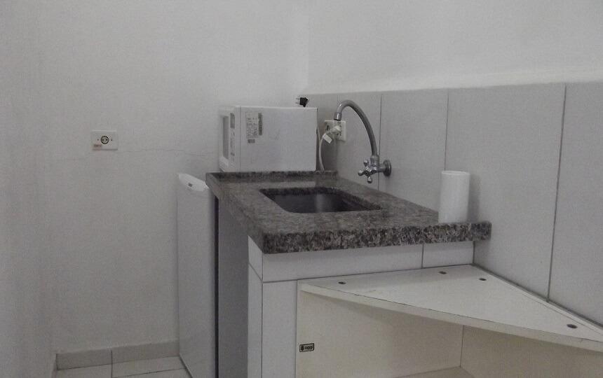 Mini cozinha Quarto familia 2 Oca Poranga Pousada Guaruja
