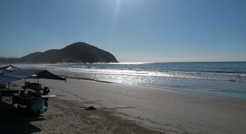 Praia de Pernambuco no Guaruja SP