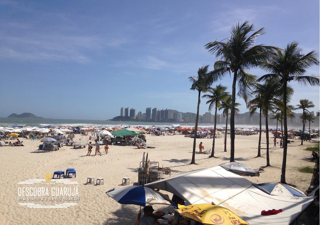 A Praia do Eden em Guaruja