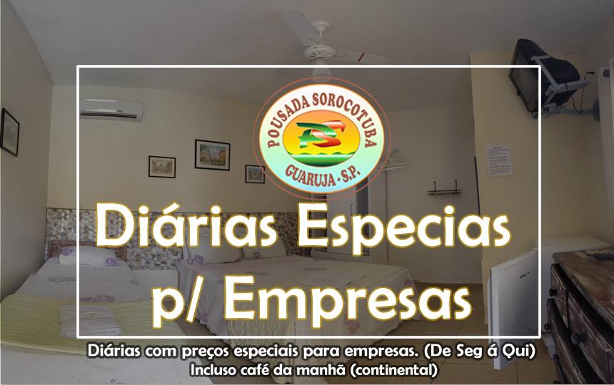 Diárias Empresas - Pousada Enseada Guarujá
