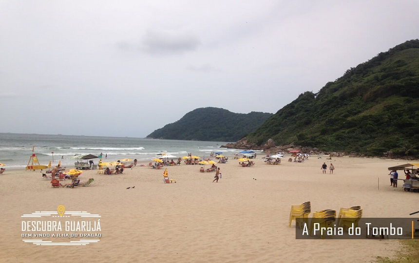 A Praia do Tombo no Guarujá SP - Bandeira Azul