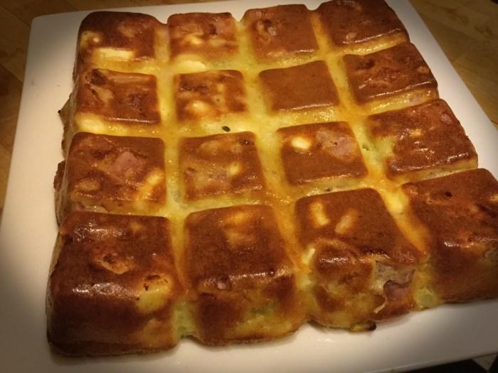 Gâteau Invisible Poireaux-Jambon-Feta