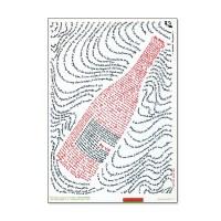 """Affiche """"Il est bu"""" - Les mots du vin par Martine Courtois"""