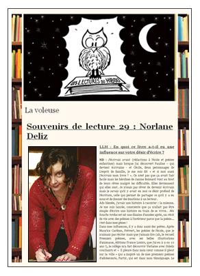 les lectures du hibou 160201 Souvenirs de lecture