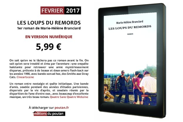 """""""Les loups du remords"""", 1er roman de Marie-Hélène Branciard en version numérique"""