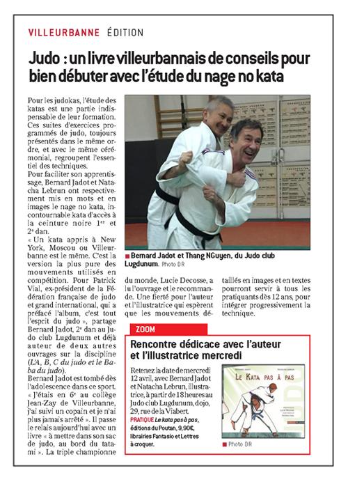 le progres 170410- Bernard Jadot Le Kata pas à pas