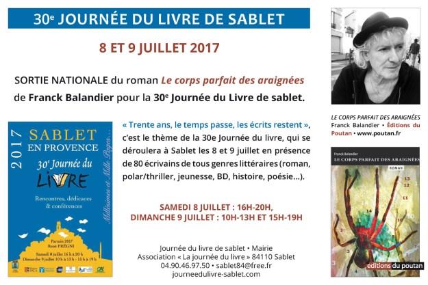 journee sablet 2017 Franck Balandier editions du poutan