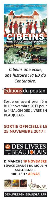 bd centenaire cibeins au 4e salon des livres en beaujolais