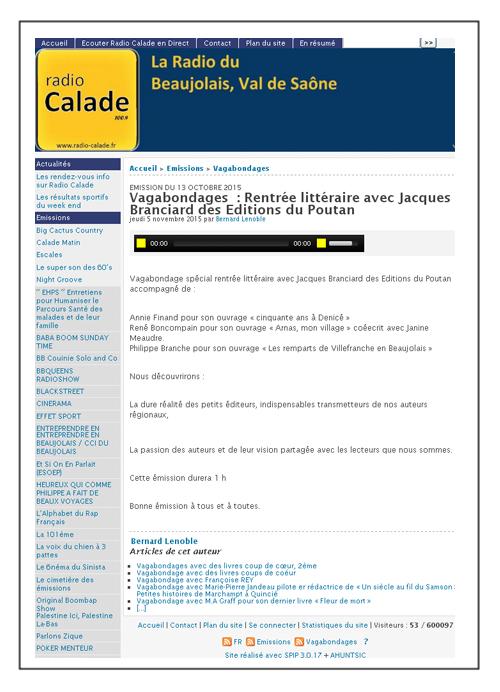 radio calade beaujolais 151013