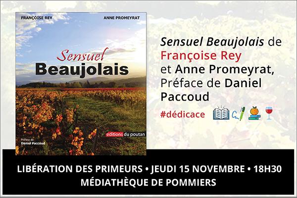 Françoise Rey présente Sensuel Beaujolais à la Médiathèque de Pommiers!