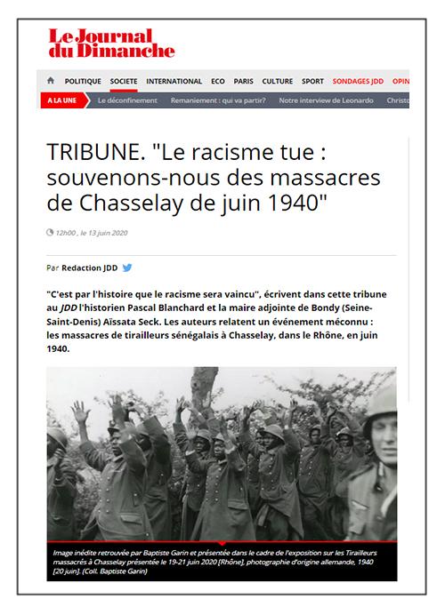 Le racisme tue: souvenons-nous des massacres de Chasselay de juin 1940 - Le JDD 13/06/20