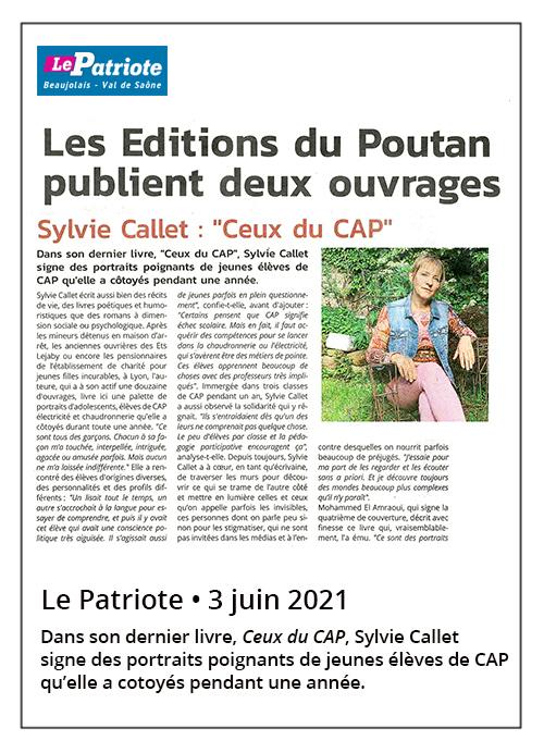Sylvie Callet : Ceux du CAP - Le Patriote 03/06/2021