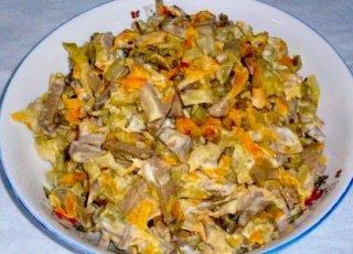 салат с печенью рецепт с фото