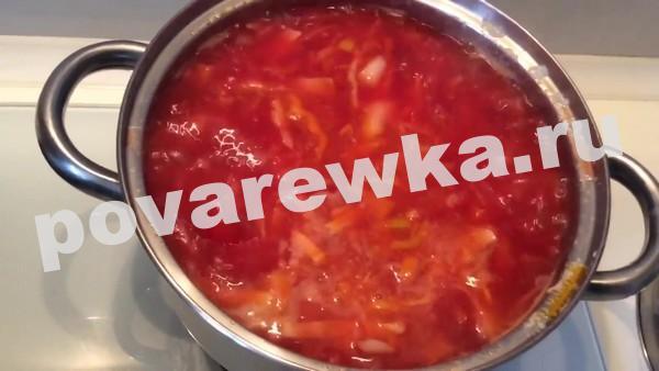 Постный борщ с фасолью без мяса: рецепты с фото пошагово