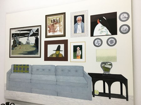 """Becky Suss, """"Living Room (Six paintings, four plates"""""""