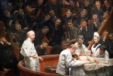 Thomas Eakins, Klinika Agnew, ulje na platnu, 214 x 300 cm, 1889.