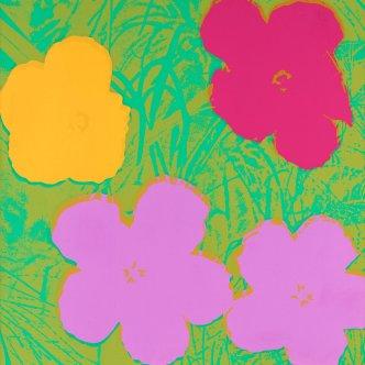 """Andy Warhol: """"Cvijeće"""", 1970., motiv cvjetnih čaški s rubnim sjenama"""